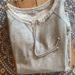 Hard Tail Sweatshirt Pullover Drawstring Neck